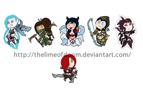 League of Legends chibis by thelimeofdoom