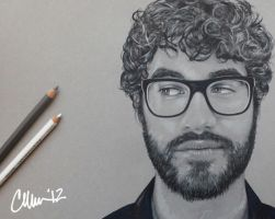 Side Eye Darren Criss Sketch by Live4ArtInLA