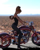 When Amy hand long brown hair and was a biker gurl by mCasual