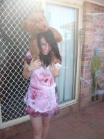 silent hill costume with teddy by DreamControl371