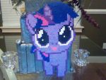 Huge Perler Bead Filly: Twilight Sparkle by Perler-Pony