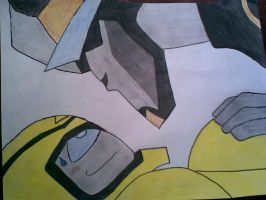 Prowl and Bumblebee by CrazyCartoonGirl
