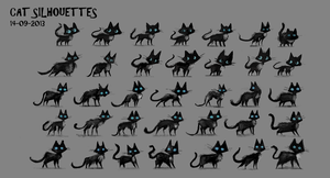 DAY 299. Sidhe - Cat Silhouettes by Cryptid-Creations