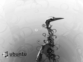 Grey Ubuntu Heron by 24Scorpions