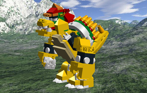 Lego Digital Designer: Bowser by Cyberguy64
