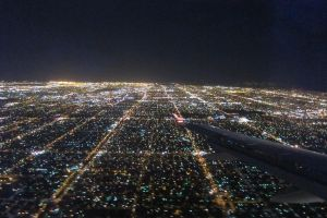Los Angeles - Plane view night by elodie50a