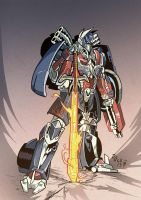 Age Of Extinction Optimus Prime by weremole