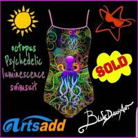 Octopus Psychedelic Swimsuit - BluedarkArt Design by Bluedarkat