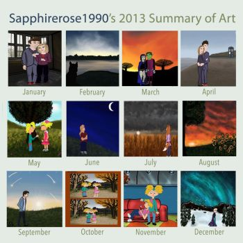 2013 Art Summary Meme by sapphirerose1990