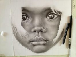 Little girl Africa - WIP 5 by Lianne-Issa