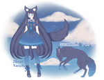 Adopt - Black Wolf (CLOSED) by SweetKonata