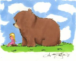 Bear and Girl new style by atnason
