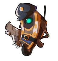 Claptrap Sticker by FalloutCat