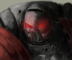 Space Marine Closeup by matthewmcentire
