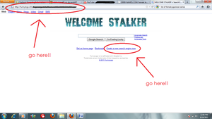 Funny Logo - WELCOME STALKER by otaku-hime95