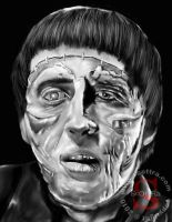 Christopher Lee as The Monster by ScOttRa