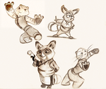 Sketch Dump - Kung Fu Panda by Mitch-el