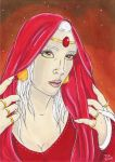 Red Madonna by Thitida-No-Chey