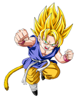 SSJ Kid Goku Update by BoScha196