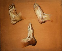 Feet Study by SILENTJUSTICE