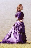 Purple Victorian Gown 0003 by tyalangan
