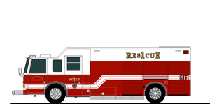 SBFD NEW RESCUE 1 DRAWING by wolvesone