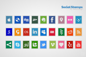 Social Stamps - Soc Icons Set by HaeckDesign