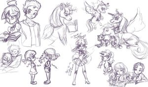 Twilight sketchdump by Emiline729