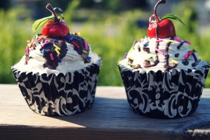 cupcake picture holders by xsuicidemakeover