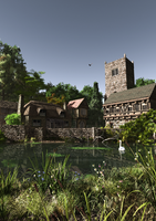 Ye Olde English Village Pond 2 by dr-druids