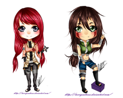  Sw Chibi Sumire y Kami by ReveVen