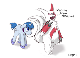 Zangoose, Pony master by LaptopGun