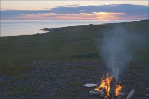 Bonfire in the tundra by NikolaiMalykh