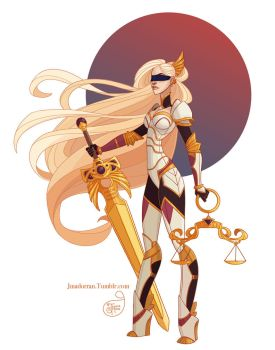 Commission Warrior Lady of Justice by MeoMai