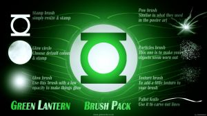 Green Lantern Brush set by gdsworld-stock