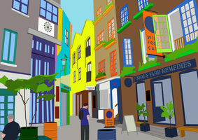 Neal's Yard Illustration by bradley-meader