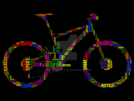 Bicycle 1 Typography by somsongart