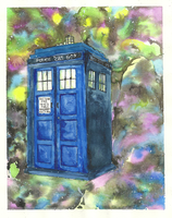 Tardis in Space by snoopgirl25