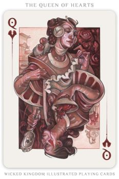 Card Art: The Queen of Hearts by wylielise