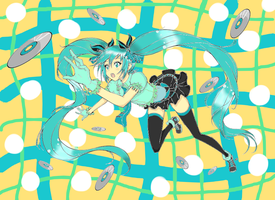 Miku Lineart coloring practice by w546