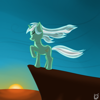 GANT: Pony standing in wind by lKittyTaill