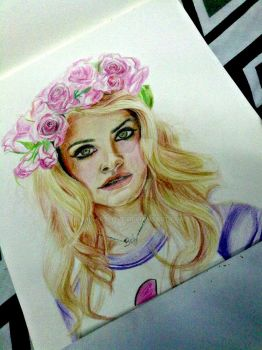Lana Del Rey Flower by Mixartlove