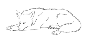 Free Wolf lineart by Kqeina