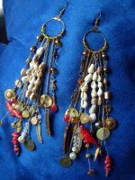 Pirate charms earrings 01 by silverlode