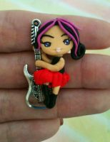 Rocker on a guitar pendant by anapeig