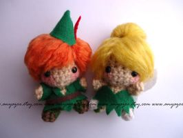 Peter Pan and Tinkerbell Amigurumi by AnyaZoe