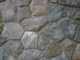 rocks in a wall by Exor-stock