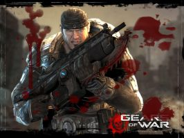 Gears Chainsawing Wallpaper by Broken-Blades