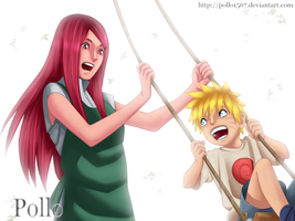 kushina y naruto by pollo1567