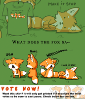 Woot Shirt - Foxes Say NO by fablefire